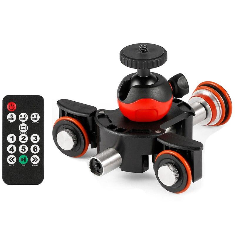 Nouvelle caméra vidéo piste Dolly motorisé électrique curseur moteur Dolly camion pour Nikon Canon Dslr caméra Dv film vlog Gear