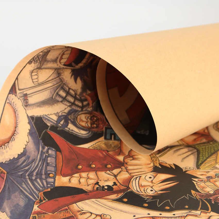 التعادل LER الكلاسيكية أنيمي قطعة واحدة صورة جمع المشارك كرافت ورقة بار مقهى ديكور الجدار ملصق 72X18 سنتيمتر