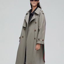 2019 Autumn women's double-breasted Trench coat Brand new design england style b