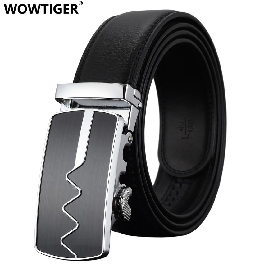 WOWTIGER pria Mode Otomatis Gesper Kulit mewah Man cinturones hombre - Aksesori pakaian - Foto 2