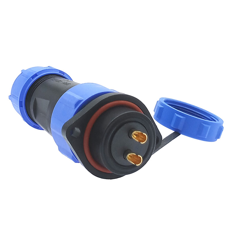 SP2110 Waterproof connector flange SP21 2/3/4/5/7/9/<font><b>12</b></font> <font><b>Pin</b></font> IP68 power <font><b>cable</b></font> connector Male plug and Femal socket image