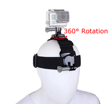 Gopro Accessories 360 Degree Rotation Head Band Strap Belt with Dual Mount Holder for Gopro Hero 4 3+ 3 2 SJCAM Xiaomi yi Camera