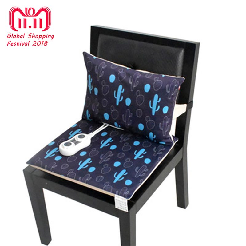 все цены на Electric Heating Mat Office Back Heated Chair Cushion and Back Cushion Electric Blanket Winter Warm Pad 220V онлайн