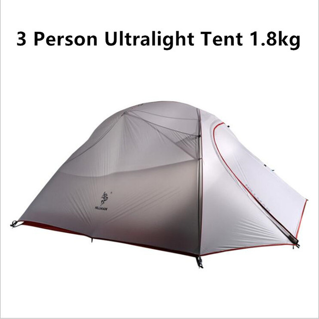 1.8KG Ultralight 3 Person Tent 20D Silicone Fabric Double Layers Aluminum Rod C&ing Tent Waterproof  sc 1 st  AliExpress.com & 1.8KG Ultralight 3 Person Tent 20D Silicone Fabric Double Layers ...
