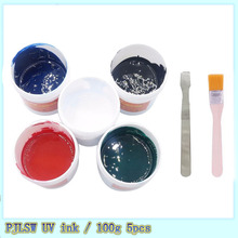 5pcs/lot Super PCB UV photosensitive inks, Green,White,Bule,Red,Black,solder mask ink,which curable solder resist ink,