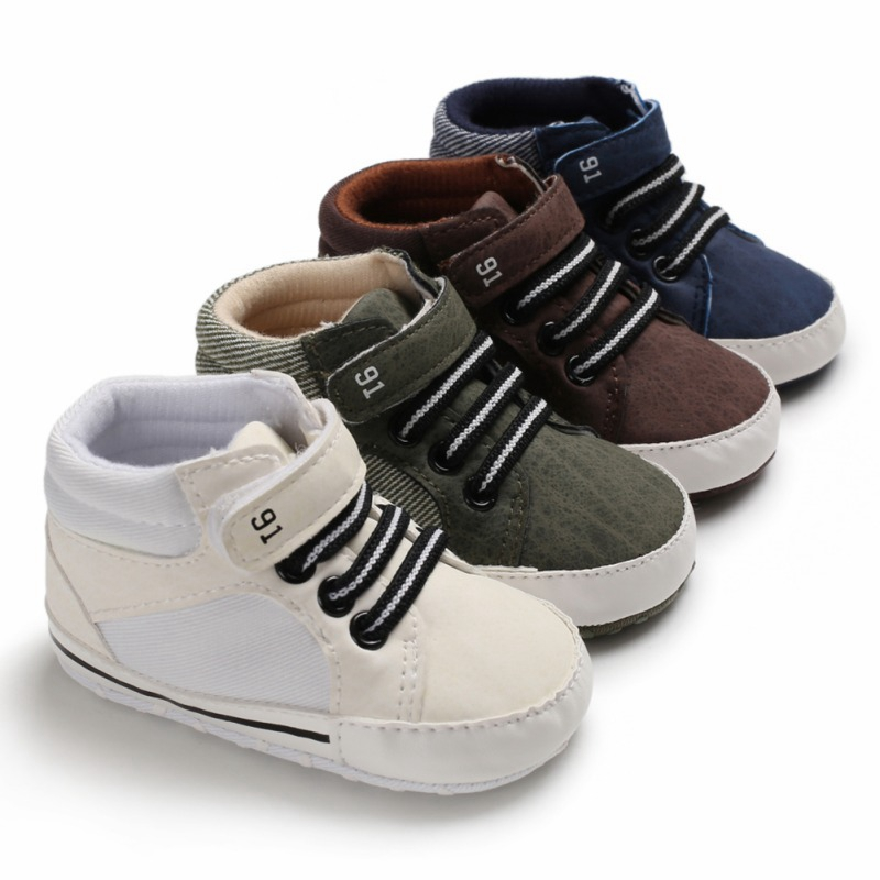 Baby Boys Shoes Spring Breathable Anti-Slip Toddler Shoes Sneakers Toddler Soft Soled First Walkers