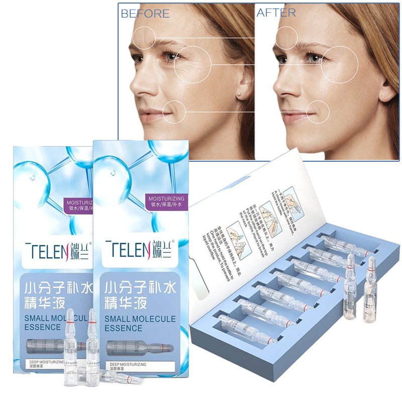 2ml X 7pcs Face Hyaluronic Acid Serum Essential Care Intensive Hydrating Anti Wrinkle Ageless Facial Moisturizer