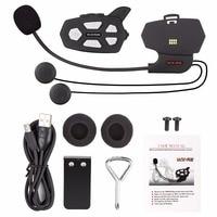 2017 Hot 1 Pcs R5 Motorcycle Helmet Bluetooth Headset Intercom For 2 Riders 1000M Wireless Intercomunicador