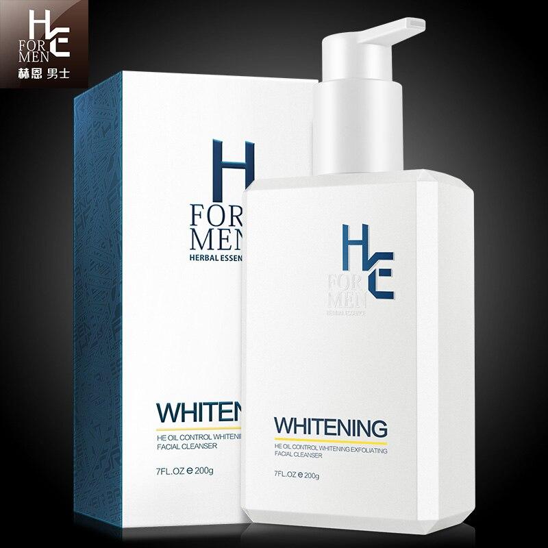 Hern Mens Cleansing Milk Niacinamide Skin Whitening Facial Cleanser Oil Control Blackheads Acne Exfoliating Moisturizing 200g