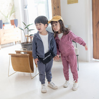 Children Clothing Sets Tracksuit Forr Boys and Girls Autumn New Children Casual Sport Suit Hooded Cost+trousers 2pcs Sets 2 7Y