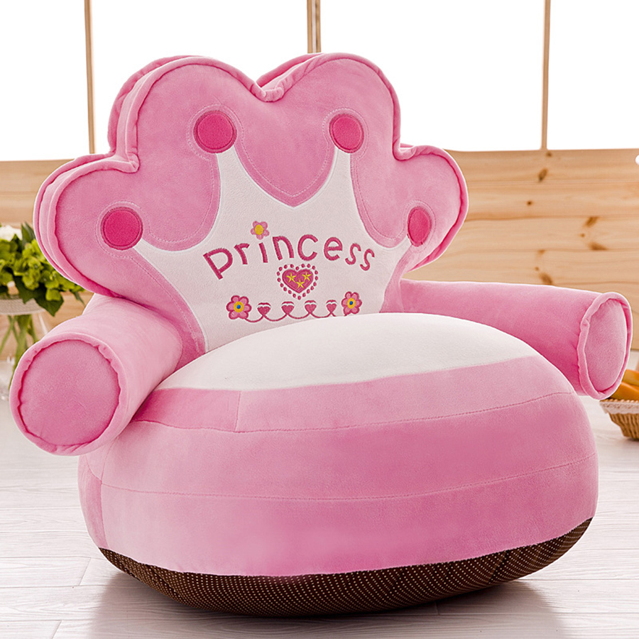 cute Crown Children Sofa Chair Soft Toys Coussin Plush Seat Baby Nest Sleeping Bed Adult ...