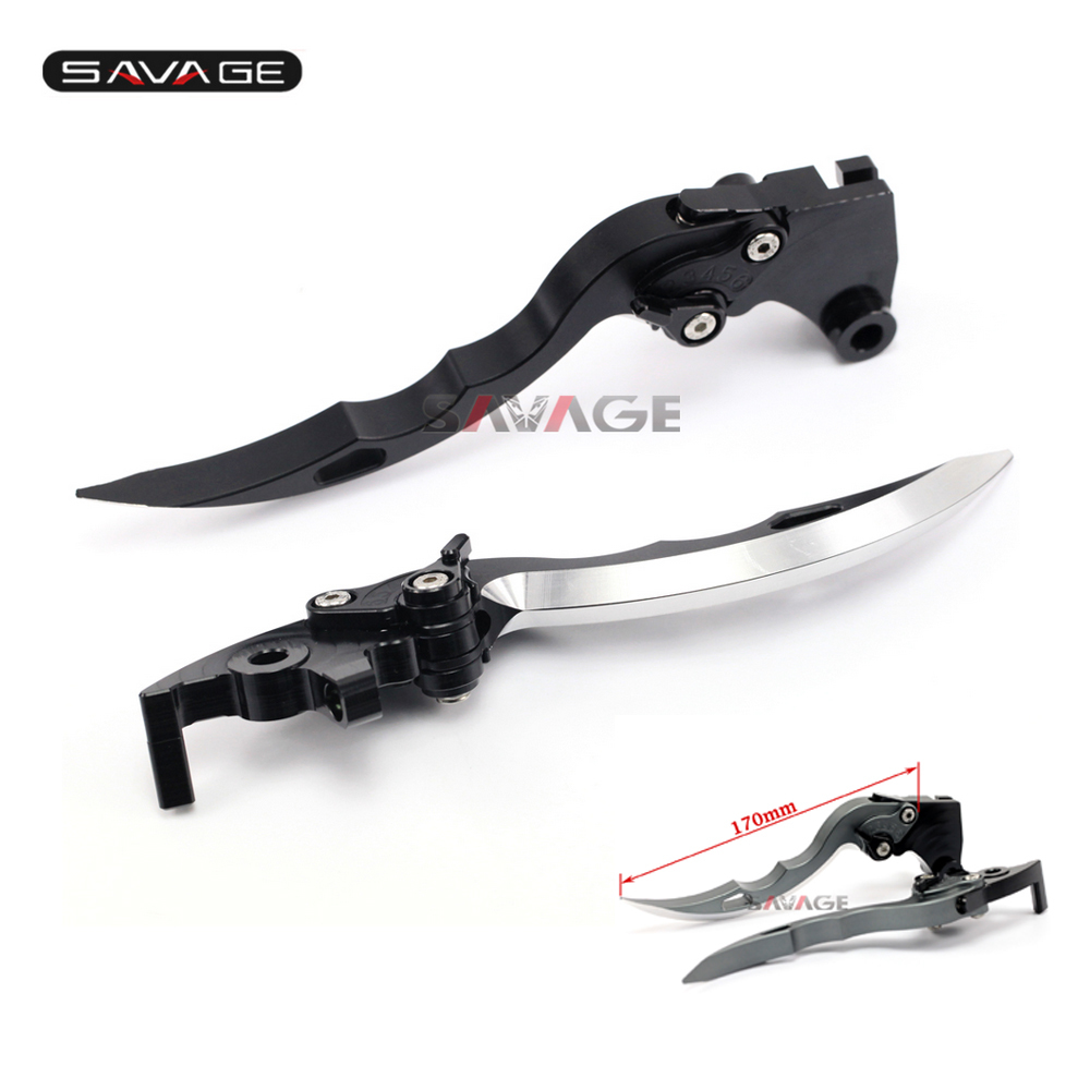 For YAMAHA XJ600 N/S XJ900S Diversion TDM 850  Knife Blade CNC Long Brake & Clutch Levers Motorcycle Accessories