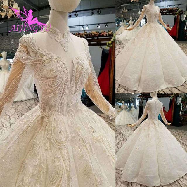 AIJINGYU Open Back Wedding Dresses For