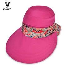 af771ce2804 Vbiger Women Summer Beach Sun Hat New Detachable Sunbonnet Ladies Foldable  Visor Hats Zipper Huge Bongrace. 2 Colors Available