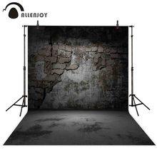 Allenjoy fotografia halloween pano de fundo escuro grunge tijolo sala fundo photocall photo studio decoração prop tecido personalizado