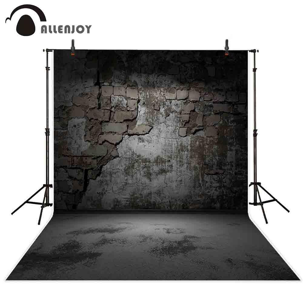 wall brick dark backdrop grunge studio decor background cement photocall prop allenjoy fabric custom photographic photobooth funnytree professional