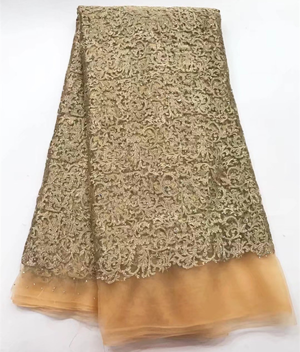 Black And Gold Lace High Quality Swiss Tulle Lace With Beads African