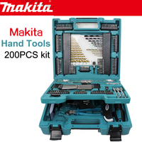 Япония Makita MACCESS серии Семья расходы ручной инструмент 200 шт. Комплект сверла ключ Пластик зажим рулетка