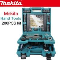 Япония Makita MACCESS серии семья расходы ручные инструменты 200 шт. Комплект сверла гаечные ключи пластик Зажимная лента мера