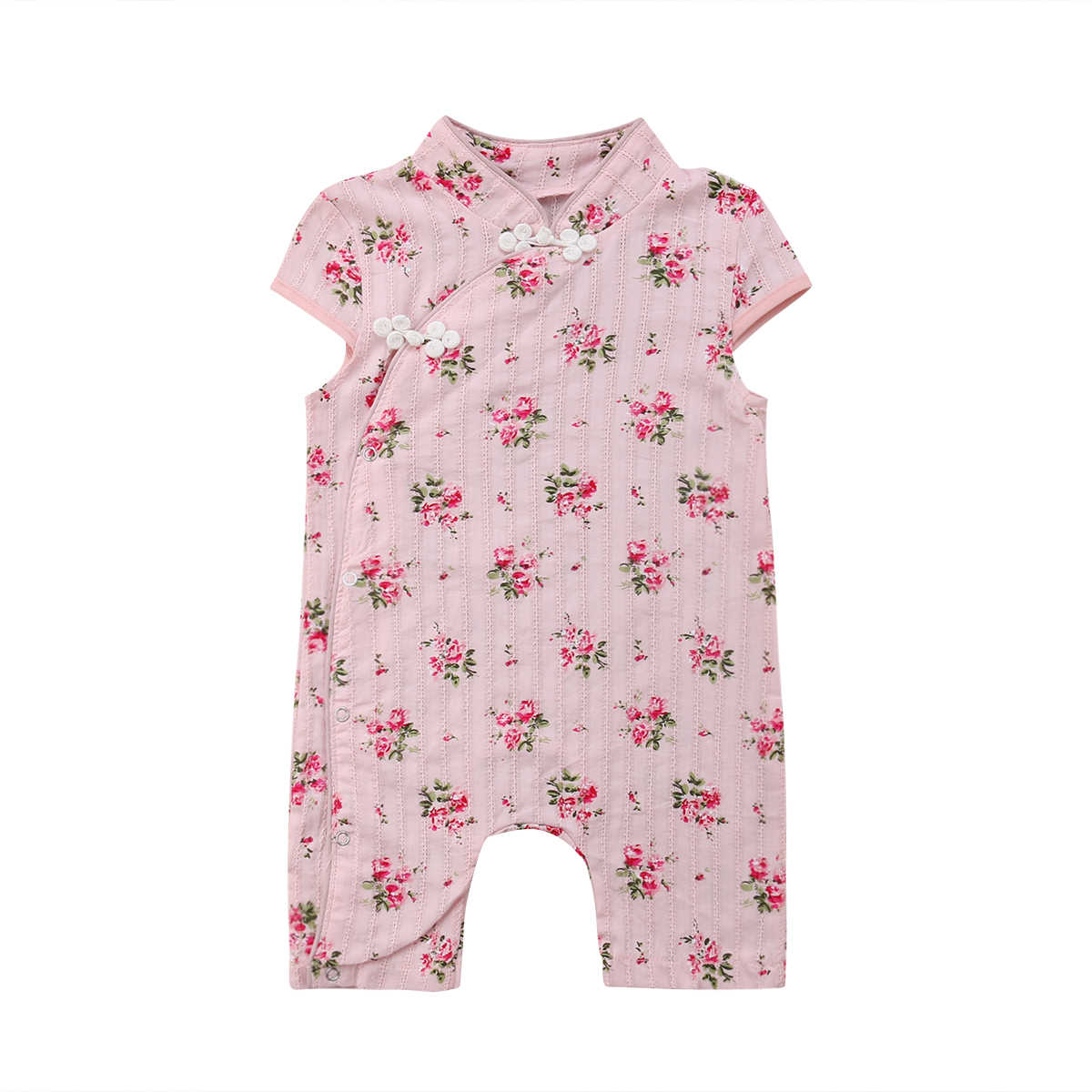 14fbda2a6033 Detail Feedback Questions about 2018 Fashion Newborn Baby Girl Floral  Romper Chinese Style Jumpsuit Summer Sunsuit Clothes Outfits 0 24M on  Aliexpress.com ...