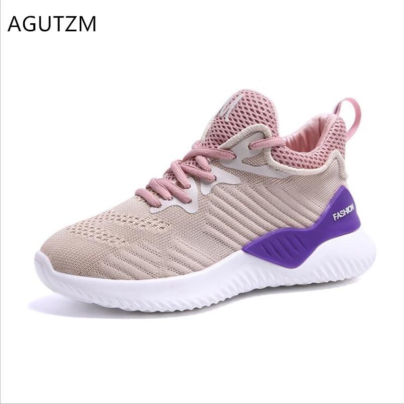 100% Wahr Agutzm 2019 Plattform Frau Schuhe Neue Frühjahr Atmungsaktive Mesh Frauen Casual Schuhe Mode Lace-up Turnschuhe Chaussure Femme Q948