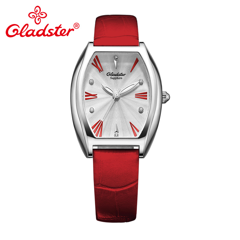 Gladster Luxury Japan CITIZEN GL30 Women Clock Casual Red Genuine Leather Female Watch Sapphire Crystal Lady Quartz Wristwatch цена 2017