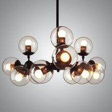 Vidrio de estilo americano colgante de luz con bombillas luces lampara cocina lámparas Luminarias de iluminación restaurante bar café de la vendimia
