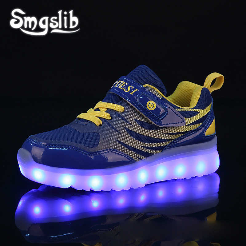 Kids Led Sneaker Boys Shoes Usb Charging 2019 Spring Autumn Children Shoes With Light Up Luminous Girls Glowing School Shoes