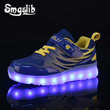 Kids Led Sneaker Boys Shoes Usb Charging 2019 Spring Autumn Children With Light Up Luminous Girls Glowing School
