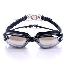 Профессиональные силиконовые водонепроницаемые плавательные очки, анти-туман, уф очки для плавания с затычкой для ушей, унисекс, водные виды спорта, новейшие