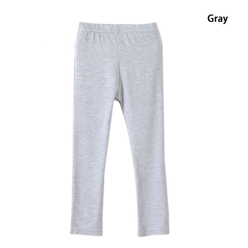 Girl Pants Soft Elastic Modal Cotton Kids Leggings Candy Color Girls Skinny Pants Trousers Solid Color 2-13Y Children Trousers 5