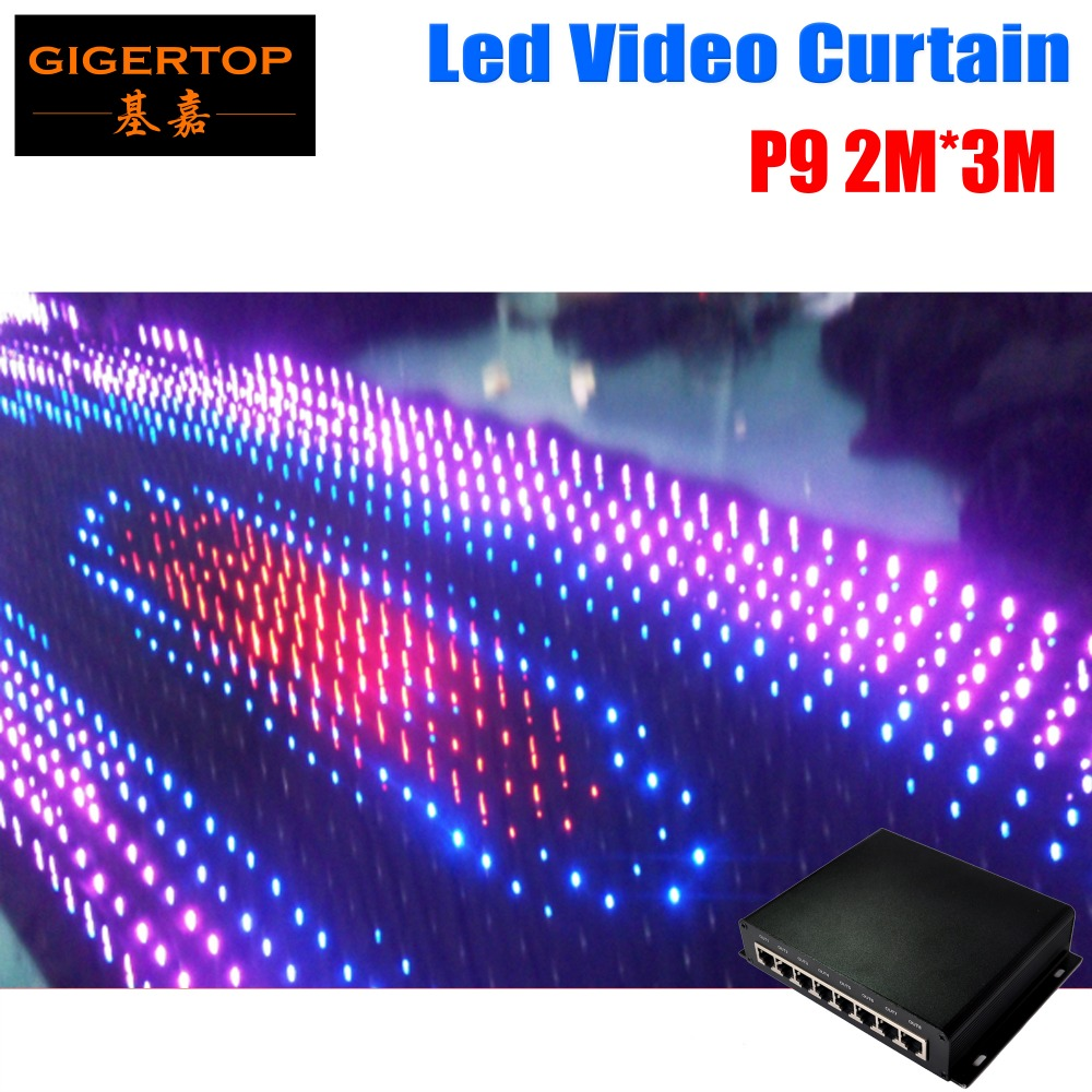High Quality P9 LED Vison Curtain 2M*3M With PC Mode Controller 600Pcs Tricolor LED Video Curtain for DJ Wedding Backdrops high quality dasmikro 2 4ghz asf ics pcb with chase mode for kyosho mini z awd