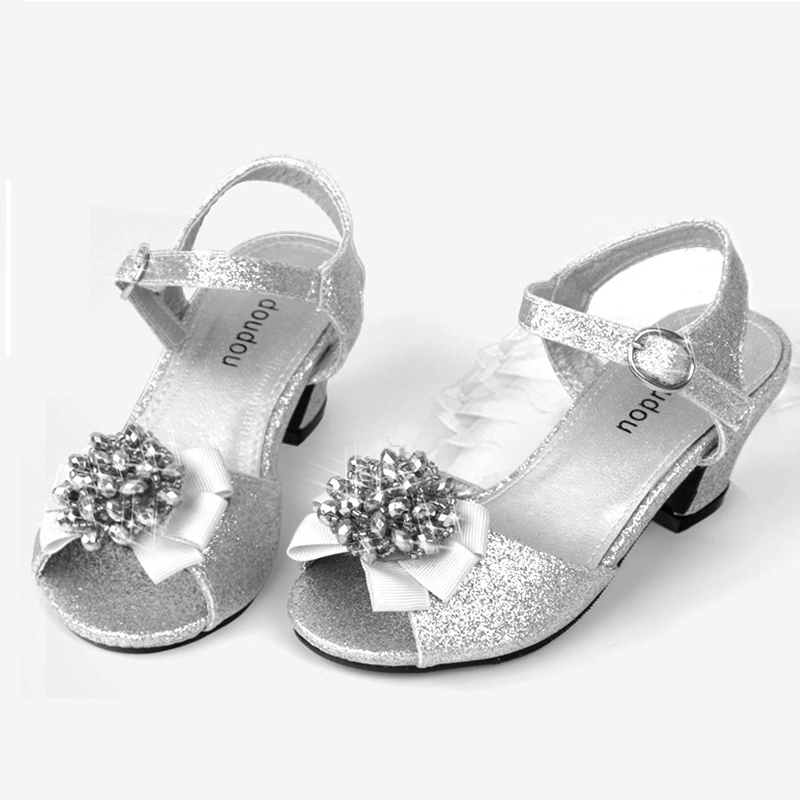 Popular Silver Flower Girl Shoes Buy Cheap Silver Flower