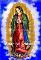 Free Shipping Gobelin Tapestries Mexican Virgin Mary Mother Of God Decoration Picture