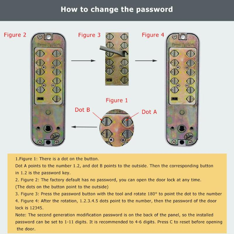 Mechanical Locks Keyless Digital Machinery Code Keypad Pword Entry Door Lock Lockentry Aliexpress