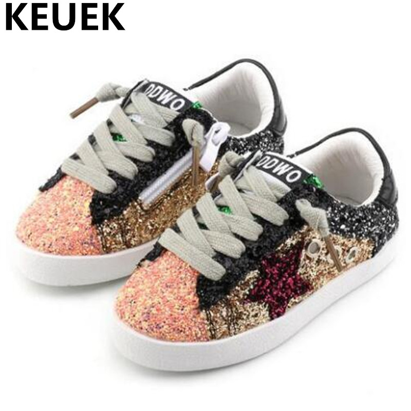 NEW Children Shoes Toddler Baby Girls Shoes Glittler Flats Trending Casual Sneakers Boys Student Sports Kids Leather Shoes 044 children shoes 2014 hot sale baby sneakers little boys girls shoes with toddler shoes first walkers retail