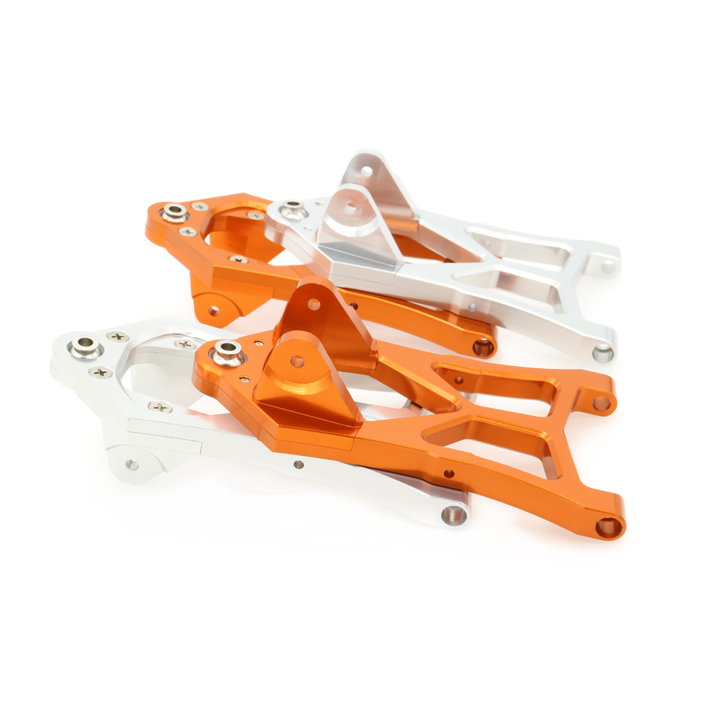 2PCS Front Lower Suspension Arm For Rc Hobby Model Car 1/5 Hpi Baja L85400 RCAWD RC Spare Parts Suspension a-Arm new arrivals baja new front suspension arm set