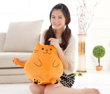 lovely plush fat cat toy cute cat doll cute orange lazy cat doll gift about 42cm