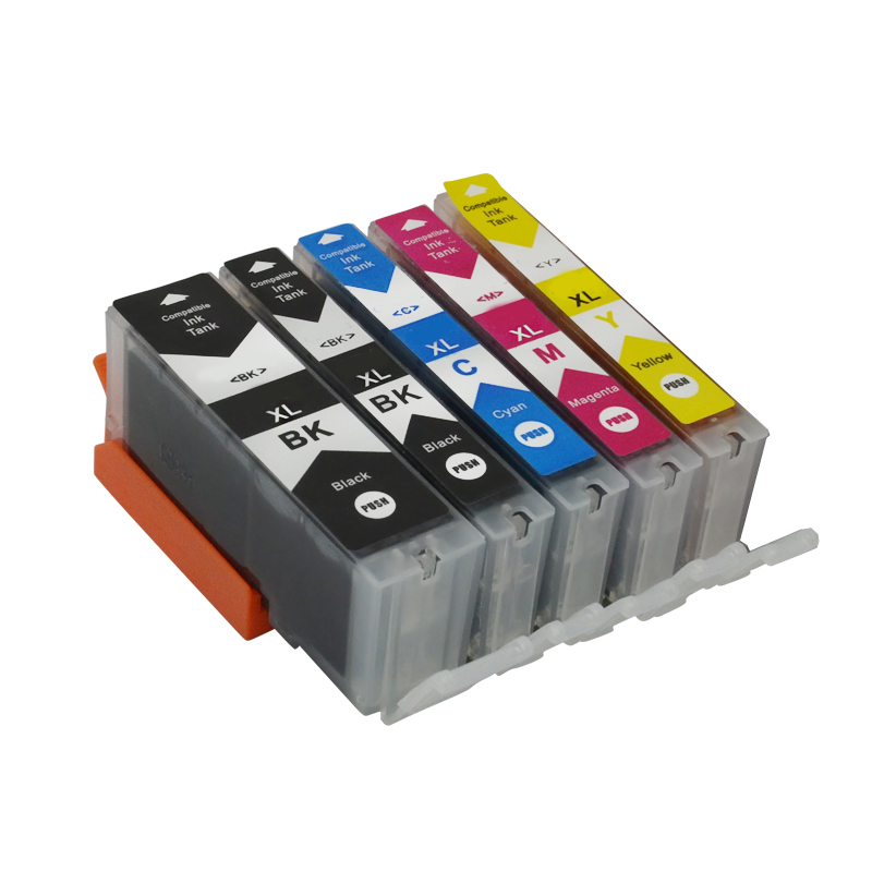 5x pgi-525 ink cartrdge PGI525 cli526 compatible for canon iP4850 iX6250 MX715 MG5150 MG6250 MG5200 MX885 iP4950 MX885 MX895