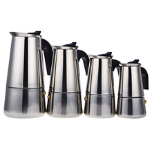 FIMEI Portable Stainless Steel Mocha Espresso Latte Percolator Stove Coffee Maker Pot Coffee Machine 100ML 200ML 300ML 450ML