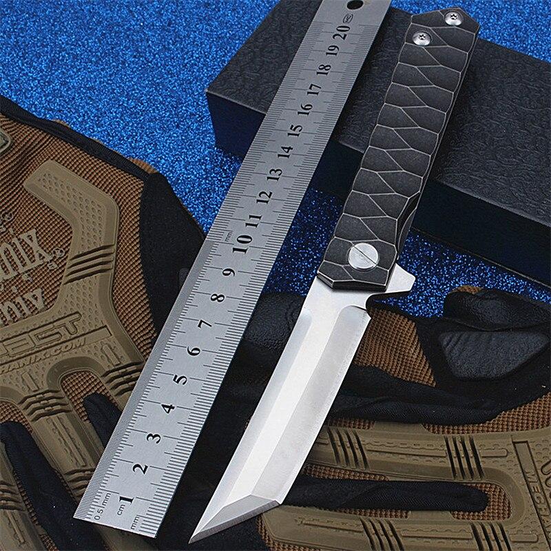 Тактический складной нож D2, высокопрочный армейский нож для самозащиты, выживания, кемпинга, охоты, 2020