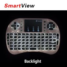 10pcs VONTAR i8+ English Russian language Version 2.4G wireless mini keyboard Touch pad mouse Backlit For Android TV Box PC