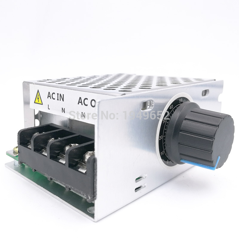 220V Ac Voltage Regulator Motor Speed Control PWM Controller SCR 4000W Dimmers Rectifier