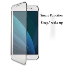 Для Samsung J7 2017 J730 чехол из искусственной кожи Smart View сна проснуться откидную крышку для Samsung Galaxy J7 2017 J730 ЕС Версия Coque