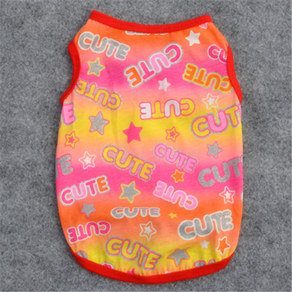 c04925618294 Hot Sale Cute Summer Pet Puppy Small Dog Cat Pet Clothes Vest T Shirt  Apparel Small Pet Dog Clothes Costume for Chihuahua-in Dog Vests from Home  & Garden on ...