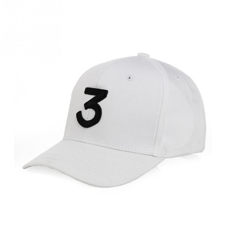"Embroidered ""Chance"" The Rapper Baseball Cap - White"