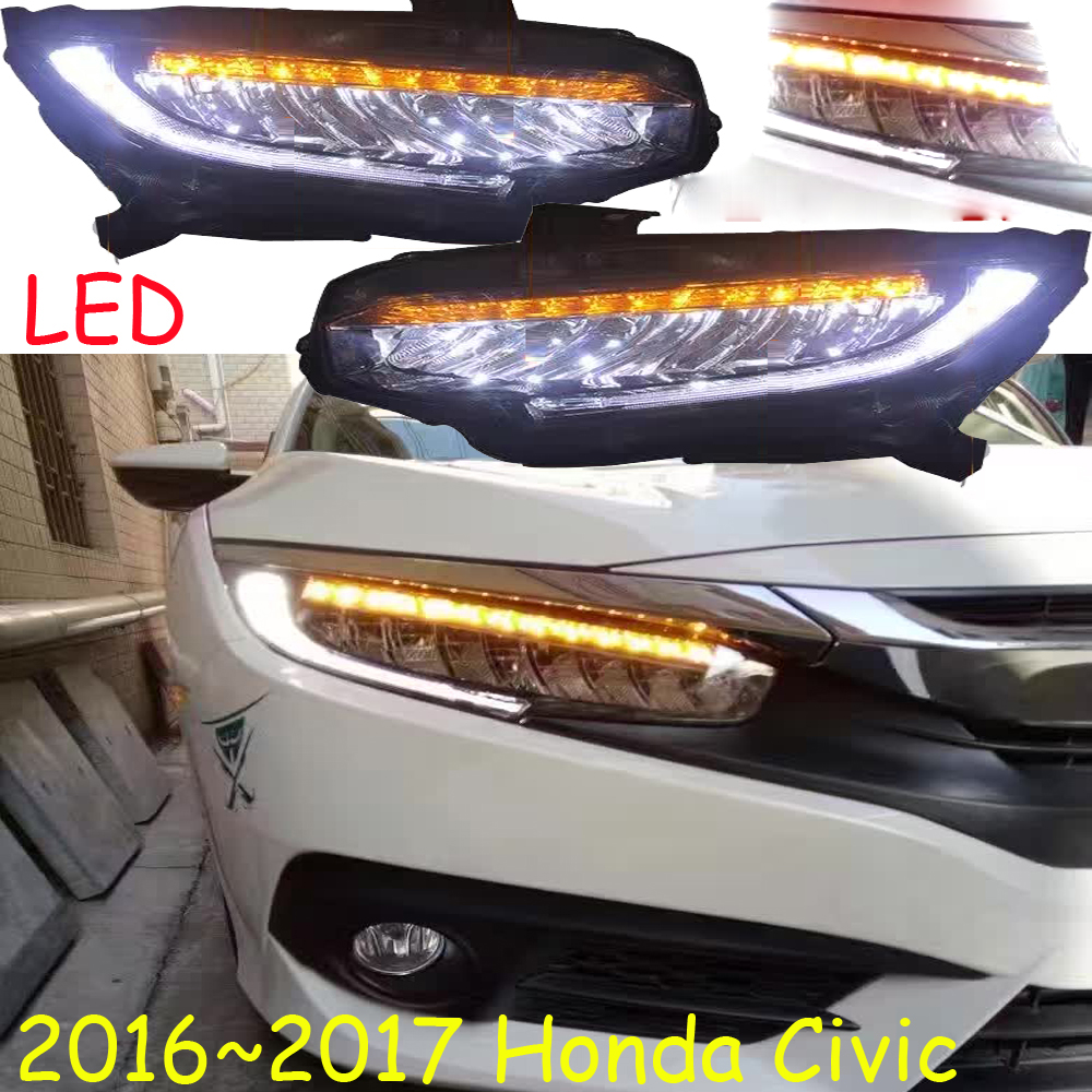 LED,2016~2018/2012~2015,Car Styling for Civi Headlight,insight,MDX,Passport,ridgeline,pilot, Delsol,Civi head lamp