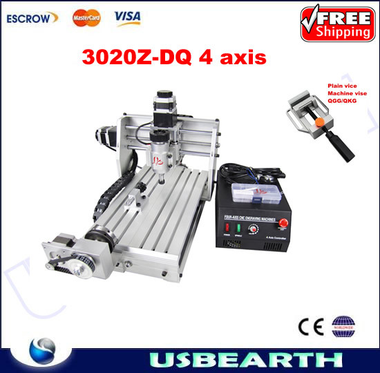 CNC 3020Z-DQ 4 axis router,upgraded from cnc 3020 router,CNC engraving machine 3020 Z-DQ rotary axis, 3D design фотобарабан panasonic dq dcd100a7 dq dcd100a7