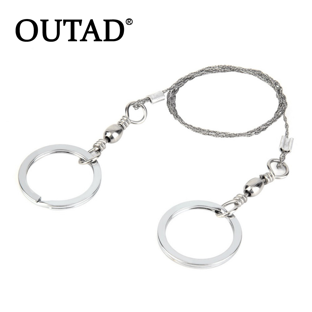 OUTAD new 1pc Portable Practical Emergency Survival Gear Steel Wire Saw Outdoor Safety Survival Tools Wholesale