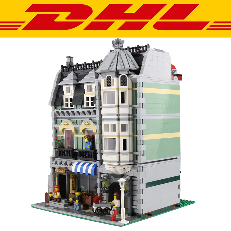 2017 New 2462Pcs City Street Green Grocer Model Building Kits Blocks Bricks Toys For Children Figures Gift Compatible With 10185 lepin 15008 new city street green grocer model building blocks bricks toy for child boy gift compatitive funny kit 10185 2462pcs